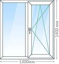 Двухпроёмное окно